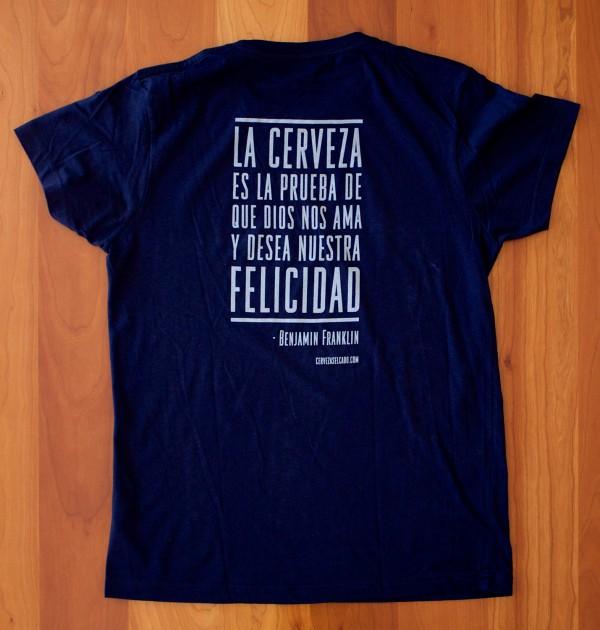 Camiseta Cerveza El Cabo Franklin Azul
